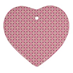 Cute Seamless Tile Pattern Gifts Heart Ornament (2 Sides)