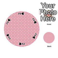 Cute Seamless Tile Pattern Gifts Playing Cards 54 (round)