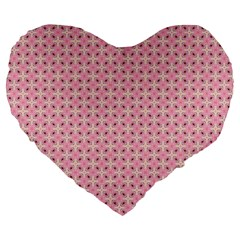 Cute Seamless Tile Pattern Gifts Large 19  Premium Flano Heart Shape Cushions