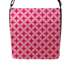 Cute Seamless Tile Pattern Gifts Flap Messenger Bag (l)