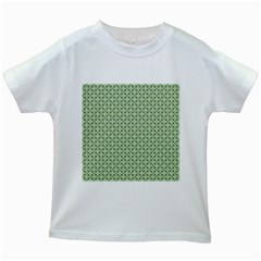Cute Seamless Tile Pattern Gifts Kids White T-Shirts