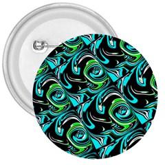 Bright Aqua, Black, and Green Design 3  Buttons
