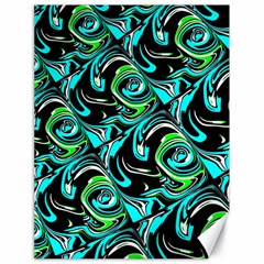 Bright Aqua, Black, And Green Design Canvas 18  X 24