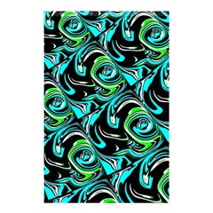Bright Aqua, Black, And Green Design Shower Curtain 48  X 72  (small)