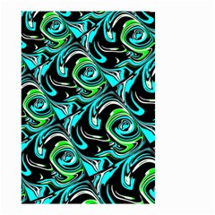 Bright Aqua, Black, and Green Design Small Garden Flag (Two Sides)
