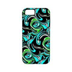 Bright Aqua, Black, And Green Design Apple Iphone 5 Classic Hardshell Case (pc+silicone)