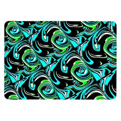 Bright Aqua, Black, and Green Design Samsung Galaxy Tab 8.9  P7300 Flip Case