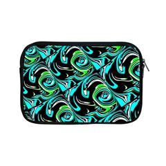 Bright Aqua, Black, And Green Design Apple Ipad Mini Zipper Cases