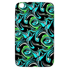 Bright Aqua, Black, and Green Design Samsung Galaxy Tab 3 (8 ) T3100 Hardshell Case