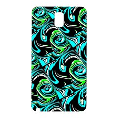 Bright Aqua, Black, and Green Design Samsung Galaxy Note 3 N9005 Hardshell Back Case