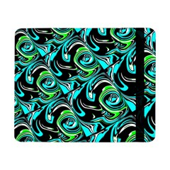 Bright Aqua, Black, and Green Design Samsung Galaxy Tab Pro 8.4  Flip Case