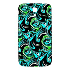 Bright Aqua, Black, And Green Design Samsung Galaxy Mega I9200 Hardshell Back Case