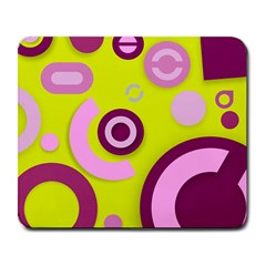 Florescent Yellow Pink Abstract  Large Mousepads
