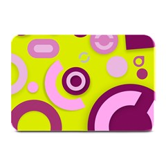 Florescent Yellow Pink Abstract  Plate Mats