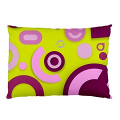 Florescent Yellow Pink Abstract  Pillow Cases