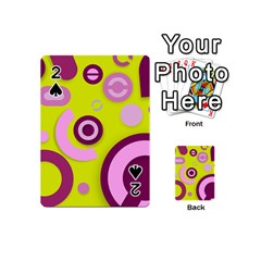 Florescent Yellow Pink Abstract  Playing Cards 54 (Mini)