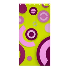 Florescent Yellow Pink Abstract  Shower Curtain 36  X 72  (stall)