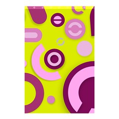 Florescent Yellow Pink Abstract  Shower Curtain 48  x 72  (Small)