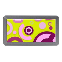 Florescent Yellow Pink Abstract  Memory Card Reader (mini)
