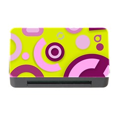 Florescent Yellow Pink Abstract  Memory Card Reader with CF