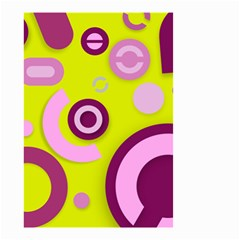 Florescent Yellow Pink Abstract  Small Garden Flag (Two Sides)