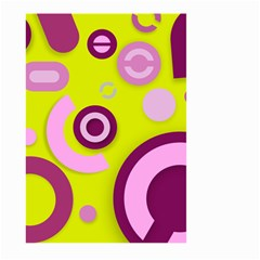 Florescent Yellow Pink Abstract  Large Garden Flag (Two Sides)