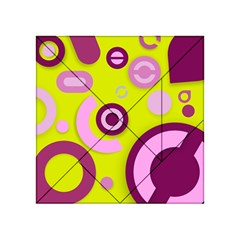 Florescent Yellow Pink Abstract  Acrylic Tangram Puzzle (4  X 4 )
