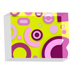 Florescent Yellow Pink Abstract  5 x 7  Acrylic Photo Blocks