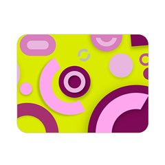 Florescent Yellow Pink Abstract  Double Sided Flano Blanket (Mini)