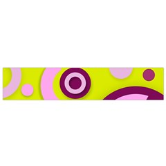 Florescent Yellow Pink Abstract  Flano Scarf (small)