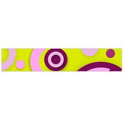 Florescent Yellow Pink Abstract  Flano Scarf (large)