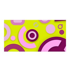 Florescent Yellow Pink Abstract  Satin Wrap