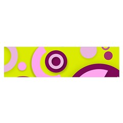 Florescent Yellow Pink Abstract  Satin Scarf (Oblong)