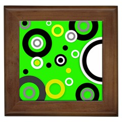 Florescent Green Yellow Abstract  Framed Tiles