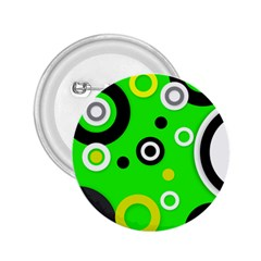 Florescent Green Yellow Abstract  2 25  Buttons