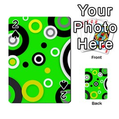Florescent Green Yellow Abstract  Playing Cards 54 Designs