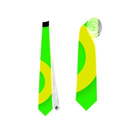 Florescent Green Yellow Abstract  Neckties (One Side)