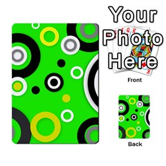 Florescent Green Yellow Abstract  Multi-purpose Cards (Rectangle)