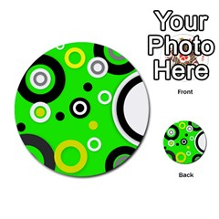 Florescent Green Yellow Abstract  Multi-purpose Cards (Round)