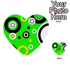 Florescent Green Yellow Abstract  Multi Purpose Cards (heart)