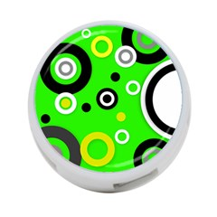 Florescent Green Yellow Abstract  4 Port Usb Hub (two Sides)
