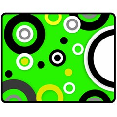 Florescent Green Yellow Abstract  Fleece Blanket (medium)