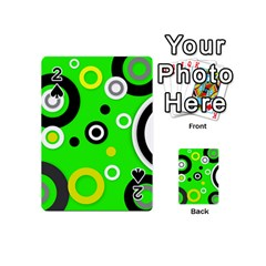 Florescent Green Yellow Abstract  Playing Cards 54 (Mini)