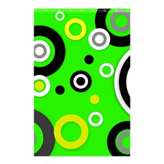Florescent Green Yellow Abstract  Shower Curtain 48  x 72  (Small)