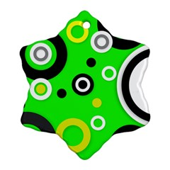 Florescent Green Yellow Abstract  Ornament (Snowflake)