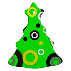 Florescent Green Yellow Abstract  Ornament (christmas Tree)