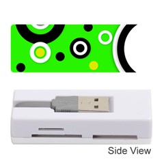 Florescent Green Yellow Abstract  Memory Card Reader (Stick)