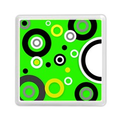 Florescent Green Yellow Abstract  Memory Card Reader (Square)