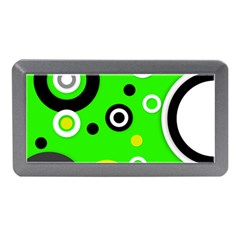 Florescent Green Yellow Abstract  Memory Card Reader (mini)