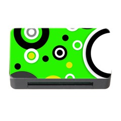 Florescent Green Yellow Abstract  Memory Card Reader With Cf